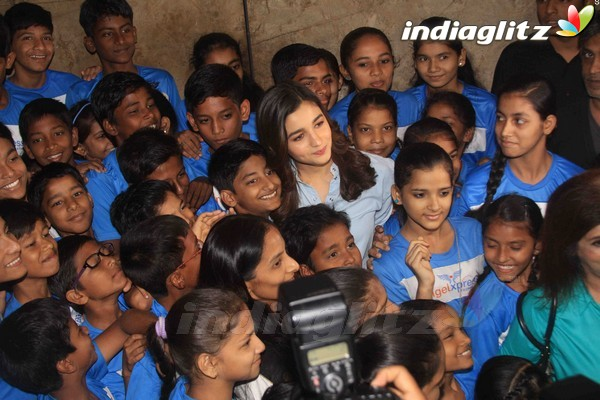 Alia Bhatt at Special Screening of 'Beauty And The Beast' With NGO Kids