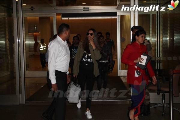 Deepika Padukone Spotted at Mumbai International Airport