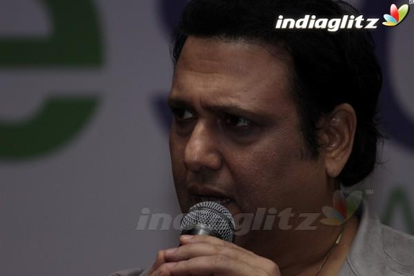 Govinda Unveils Inter School Cricket Tournament Trophy