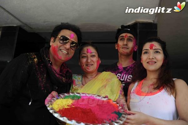 Govinda Celebrates Holi With His Family