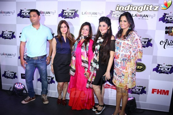 Celebs at Pre-Celebration of India Premiere Edm Holi Festival