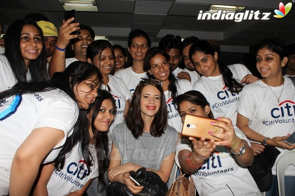 Kalki Koechlin at Inauguration Of Computer Lab & Beautifying The School Premises