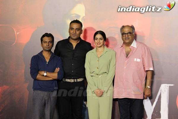 Sridevi & Nawazuddin Siddiqui at 'Mom' Trailer Launch