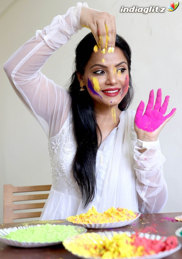Neetu Chandra's Dry Holi Celebration Special Photoshoot