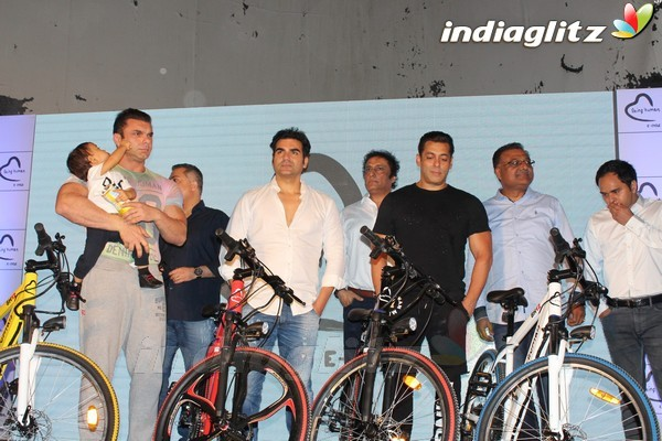 Salman Khan at Launch of Being Human Electric Cycles