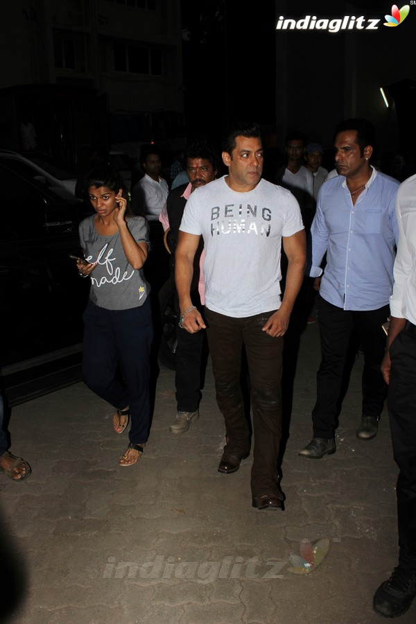 Salman & Sohail Spotted at Mehboob Studio