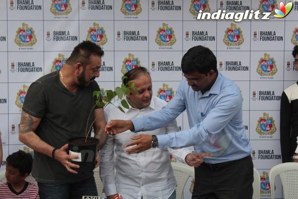 Sanjay Dutt at Tree Plantation & Initiative By MCGM & Bhamla Foundation