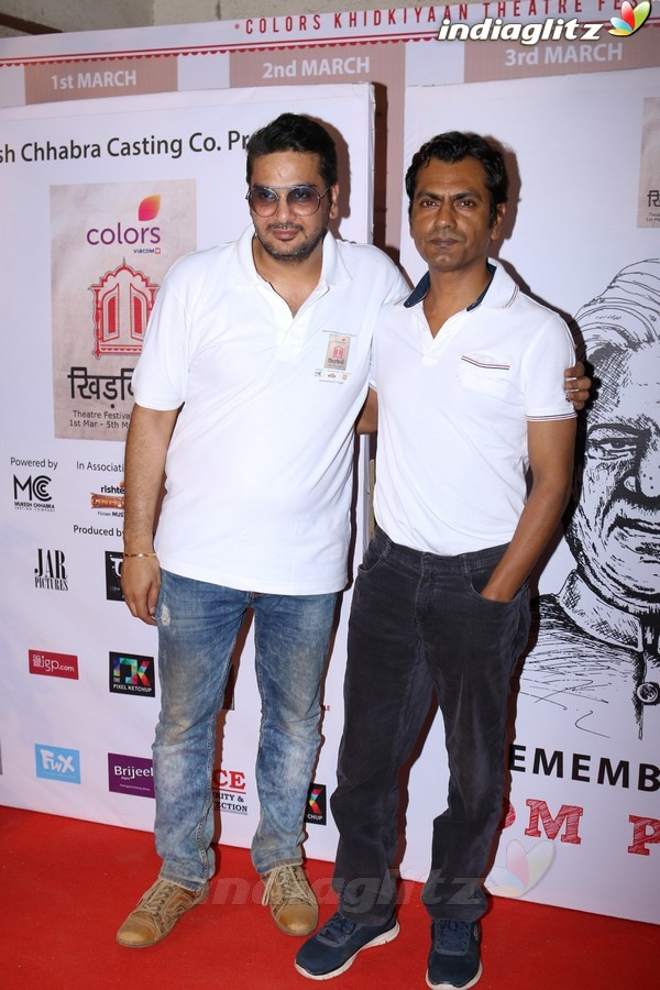 Sidharth, Nawazuddin, Yami at Colors khidkiyaan Theatre Festival Being Held