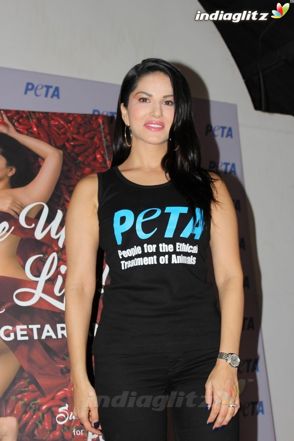 Sunny Leone Launches PETA Newest Vegetarian Campaign