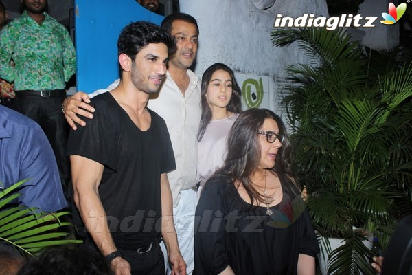 Sushant Singh Rajput, Sara Ali Khan & Amrita Singh Spotted at Olive Bar & Kitchen