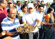 Aamir Khan in Warud to create awareness on water conservation