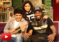 Chris Gayle & Mika Singh on Sets of The Kapil Sharma Show