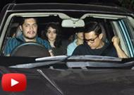 Aamir Khan With Daughter & Son at 'Dangal' Screening