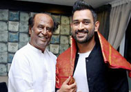 MS Dhoni pays tribute to Superstar Rajnikanth!