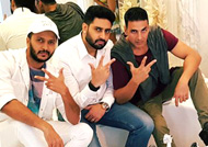 'Housefull 3' boy gang picture gets photo-bomb by this beauty: See Here