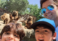 OH GHOSH! Hrithik Roshan & sons almost got lost during Africa trip