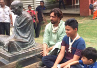 Irrfan Khan takes son Ayaan to Sabarmati Ashram on Father's Day