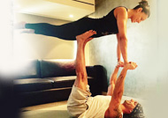 Bipasha Basu and Karan Singh Grover celebrate International Yoga Day