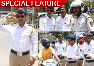 Manoj Bajpai spotted as traffic cop on road!