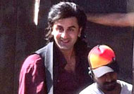 Ranbir Kapoor takes ferry ride to his shooting location!
