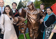 Rani Mukherji at Switzerland for inauguration of Yash Chopra's statue