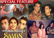 Salman Khan, Sanjay Dutt, Madhuri Dxit's 'Saajan' turns 25!