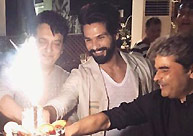 Shahid Kapoor & Sajid Nadiadwala celebrate birthdays together!