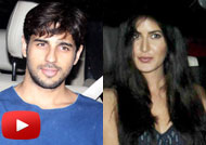 Sidharth, Katrina Spotted at Juhu Residence for the Party