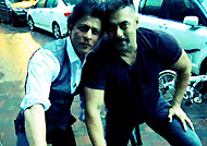 Salman Khan and Shah Rukh Khan clicked during bike ride