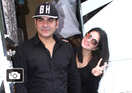 Sunny Leone, Arbaaz Khan at Mahurat of film 'Tera Intezaar'