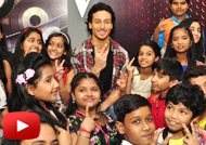Tiger Shroff on Sets of &TVs The Voice India Kids Show