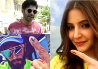 Varun, Anushka, Rekha, Ranveer cast their vote