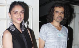 Aditi Rao Hydari & Imtiaz Ali at Special Screening of Tamil Film 'Kaatru Veliyidai'