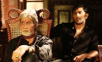 CANDID CLICK: Big B and Amit Sadh on sets of 'Sarkar 3'
