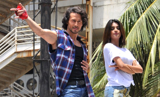 Tiger Shroff & Nidhhi Agerwal at 'Ding Dang' Song Launch from 'Munna Michael'