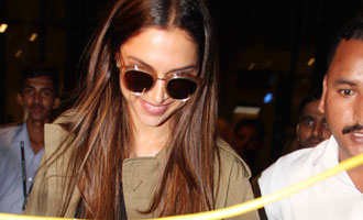 Deepika Padukone Spotted at Mumbai International Airport