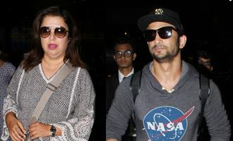 Sushant Singh Rajput & Farah Khan Spotted at Airport