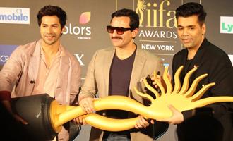 Varun Dhawan & Saif Ali Khan at Press Conference Of 18th IIFA Awards