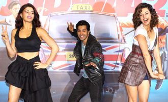Varun Dhawan,Jacqueline Fernandez, Taapsee Pannu at 'Judwaa 2' Trailer Launch