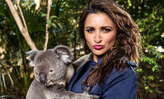 Parineeti cuddles a koala in Australia