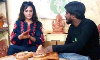 Richa supports eco-friendly Ganesh Chaturthi