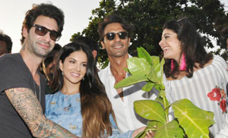 Sunny Leone, Arjun Rampal pledge to plant trees!