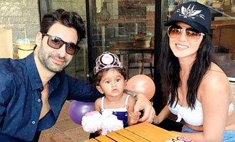 Sunny Leone celebrates second birthday of adopted daughter