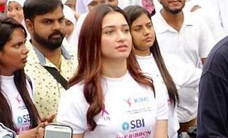 Tamannaah participates in Pink Ribbon walk