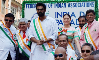 Tamannaah, Rana participate in India Day Parade in NY