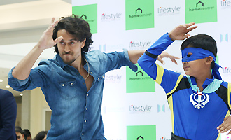 Tiger Shroff at Launch of Lifestyle New Store
