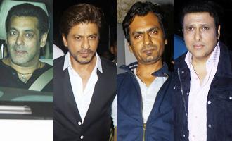 Salman Khan & Shah Rukh Khan at Special Screening of Film 'Tubelight'