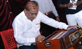 Hamsalekha gets Harmonium gift