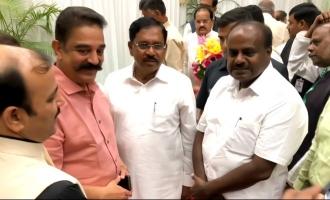 Kamal meets CM Kumaraswamy ಕಮಲ್-ಕುಮಾರಸ್ವಾಮಿ ಬೇಟಿ