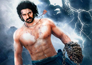 Baahubali 2 - the electrifying first look poster released by director Rajamouli